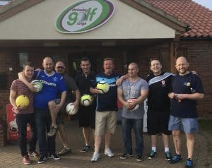 MB Distributions getting ready for their FootGolf